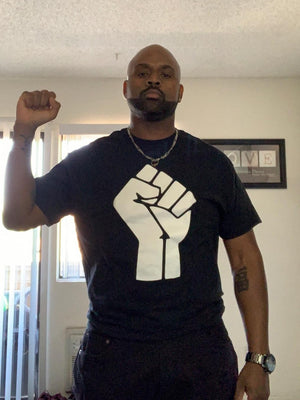 Black & White Black Power Tee
