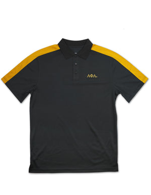 Alpha Polo with gold sleeve