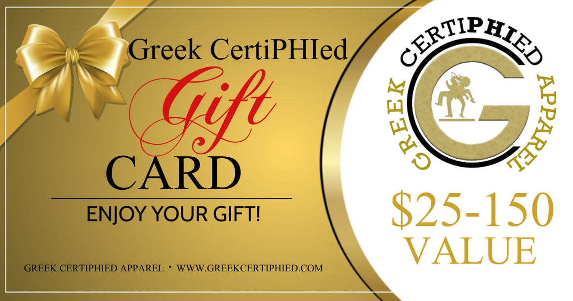 Greek CertiPHIed Apparel Gift Card