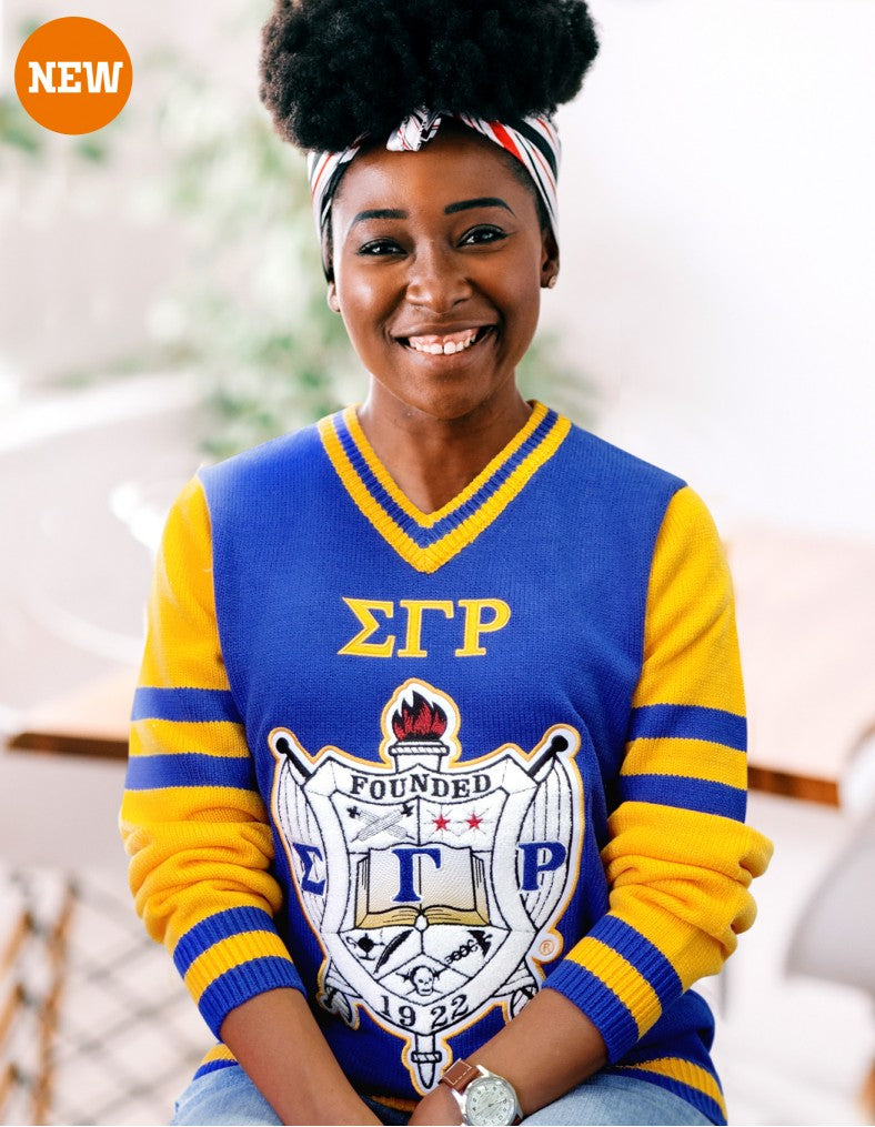 Sigma Gamma Rho Vintage  V Neck Sweater