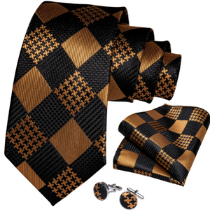 Essence of Elegance Black & Gold Necktie Collection