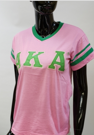 AKA V neck Stripes Tee