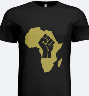 Africa Black Power Tee (Black&Gold)