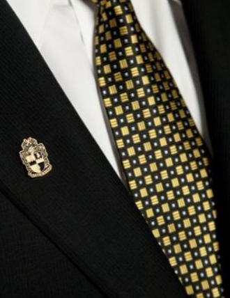 18K Gold Plated Shield Lapel Pin