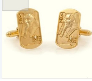 18K Gold Plated Sphinx Cufflinks