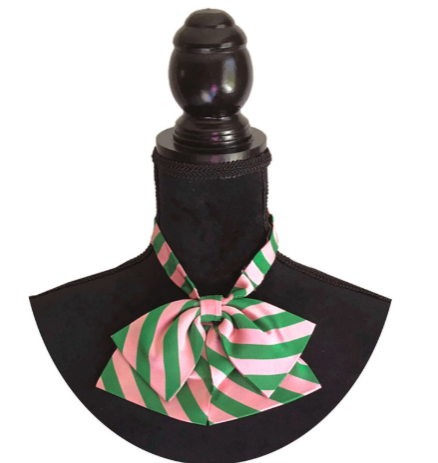 AKA-Pink & Green Stripe Bow-ties