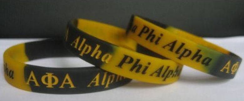 Alpha Black & Gold Silicon Bracelets