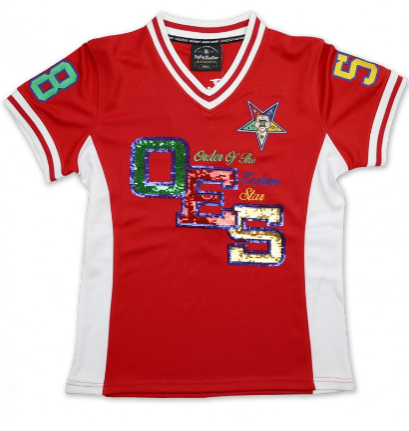 OES Red Football Jersey