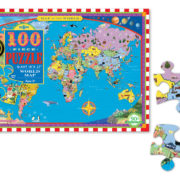 100 Piece World Map Puzzle for Ages 5+