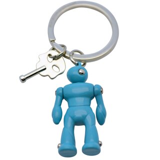 Keyring with attached Blue Robot by Dakota