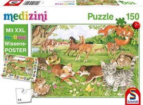 150 Piece Jigsaw Puzzle of Animal Babies for Ages 7+