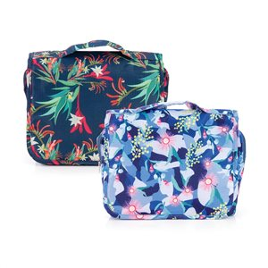 Hanging Toiletry Bag in Golden Wattle or Kangaroo Paw Design