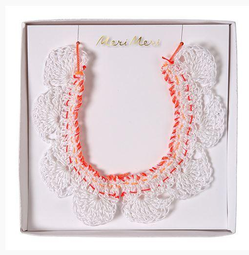 Meri Meri Necklace - Crochet Collar - Popcorn Street