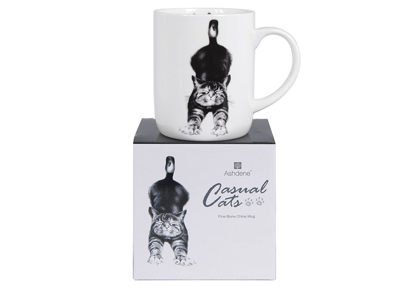 Large Can Mug in Fine Bone China from Ashdene Casual Cats Collection
