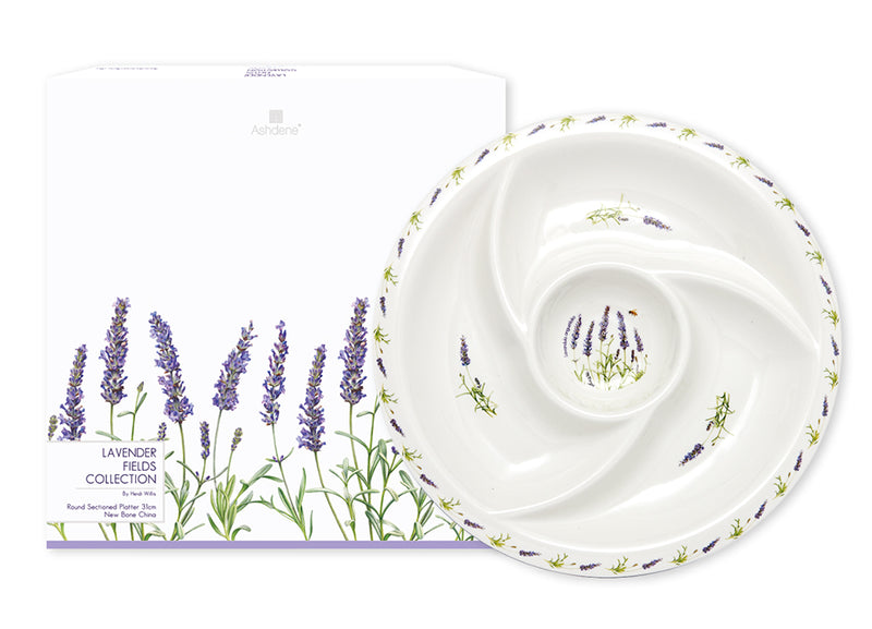 Large Round Sectioned Platter in Lavender Fields by Ashdene