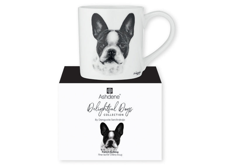 Fine Bone China Mug from Ashdene Delightful Dogs Collection - French Bulldog