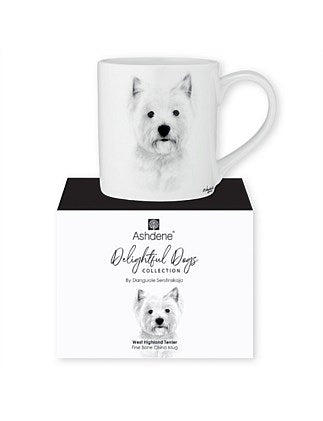 Fine Bone China Mug from Ashdene Delightful Dogs Collection - West Highland Terrier