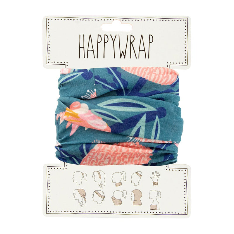 Happywrap for Hair, Head, Wrist or Neck Wrap or Face Mask - Aussie Flora Khaki