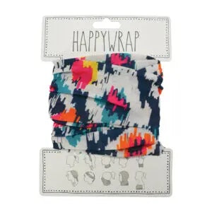 Happywrap for Hair, Head, Wrist or Neck Wrap or Face Mask - IKAT