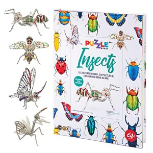 3D Puzzles & Colouring Book in One - Insects - Ages 8+