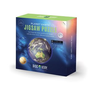 1000 Piece Circular Planet Earth Jigsaw Puzzle for Ages 8+