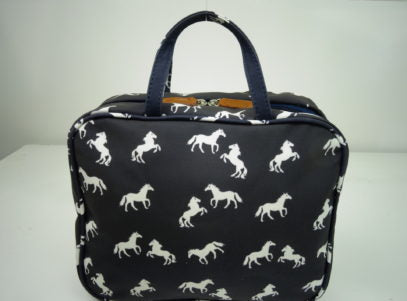 Hanging Fold Out Toiletry Bag with Horse Design
