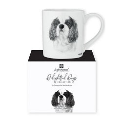 Fine Bone China Mug from Ashdene Delightful Dogs Collection - King Charles Cavallier