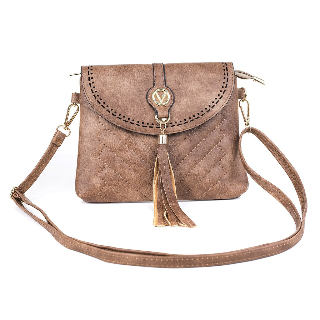 Ladies Shoulder Bag in Blue, Wine, Caramel or Brown