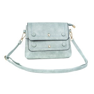 Ladies Shoulder Bag in Various Colours with Button & Gold Stud Design