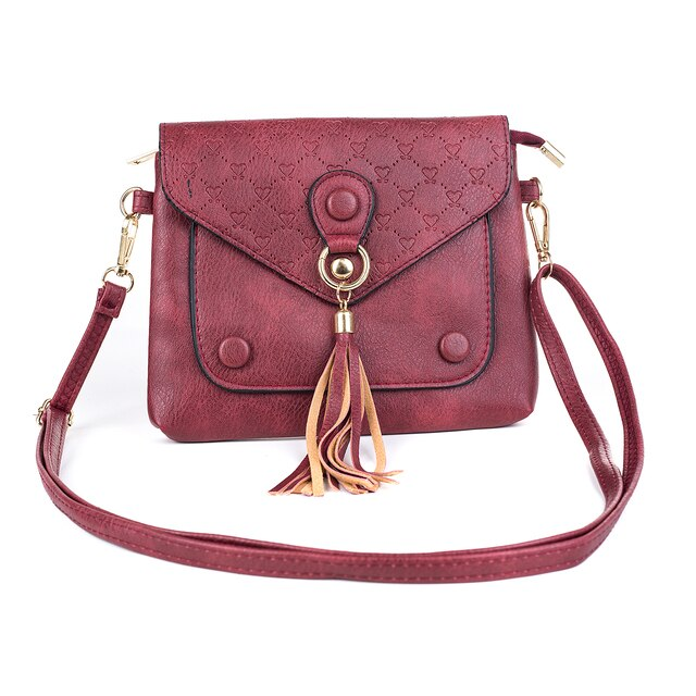 Ladies Shoulder Bag in Wine or Caramel