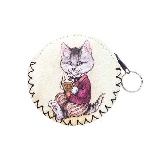 Coin Purse with Keyring and Character Cat