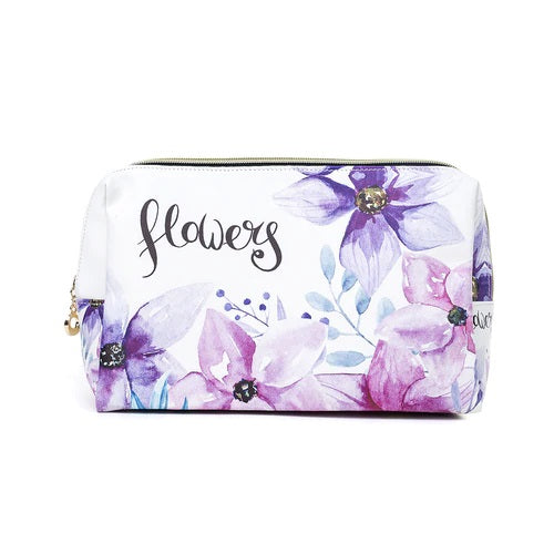 Toiletry/Cosmetic Bag In Bright Watercolour Pastels (32x18x10cm)