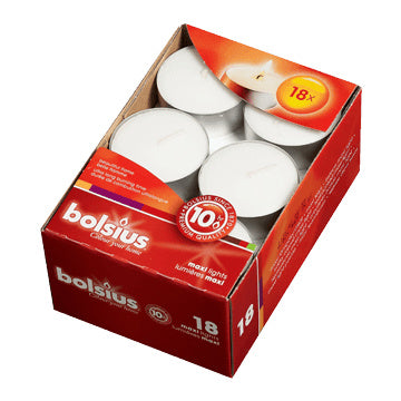 Unscented Maxi Tealights Box of 18