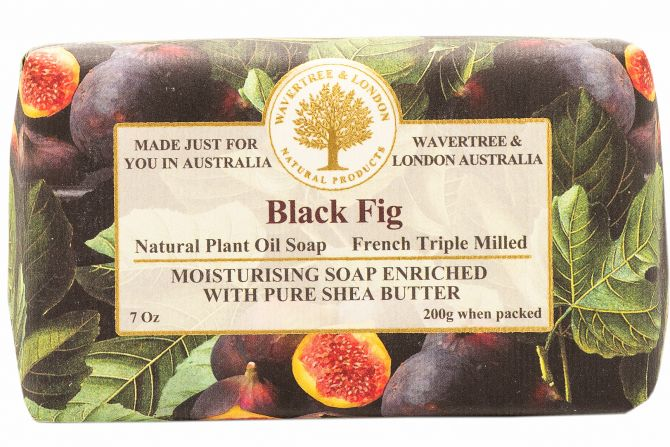 Black Fig Scented Soap by Wavertree & London (Made in Australia)