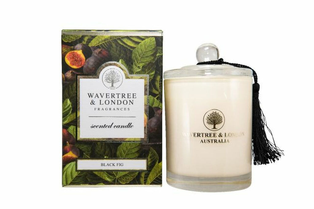 Black Fig Scented Candle by Wavertree & London (Made in Australia)