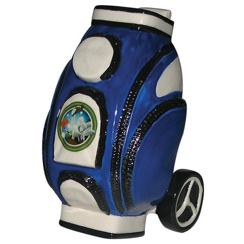 Golf Bag Ceramic Money box in Blue