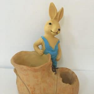 Planter - bunny with hole in boot