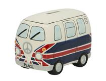 Money box Campervan in UK Flag