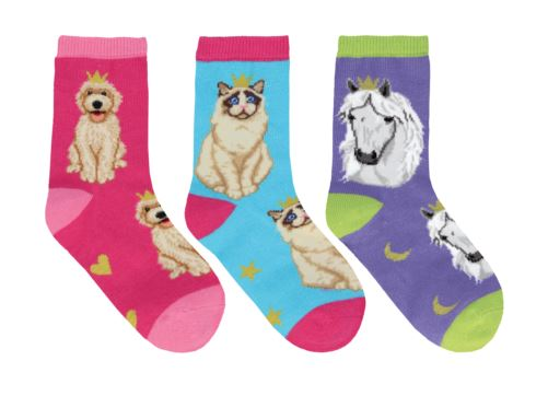 Kids Novelty Socks for ages 2-4yrs - cats and dogs