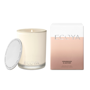 Ecoya - Large Candle - Cedarwood & Leather