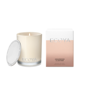 Ecoya - mini candle Cedarwood & leather
