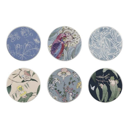 May Gibbs Ceramic Coasters 10 x 10 cm
