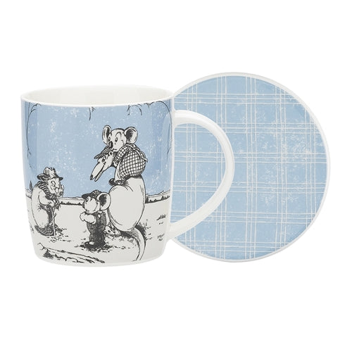 Blinky Bill Mug & Coaster Set in Blue 320ml
