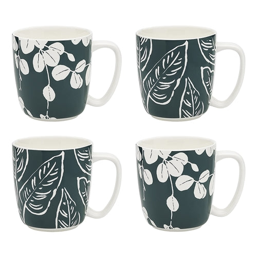 Ecology House Plants Set of 4 Mugs 300ml