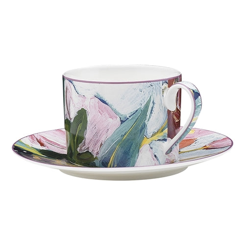 Ecology Bloom Design Tea Cup and Saucer 200ml
