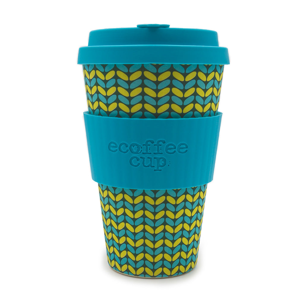 eCoffee Bamboo Travel Cup in Norweaven Design 14oz