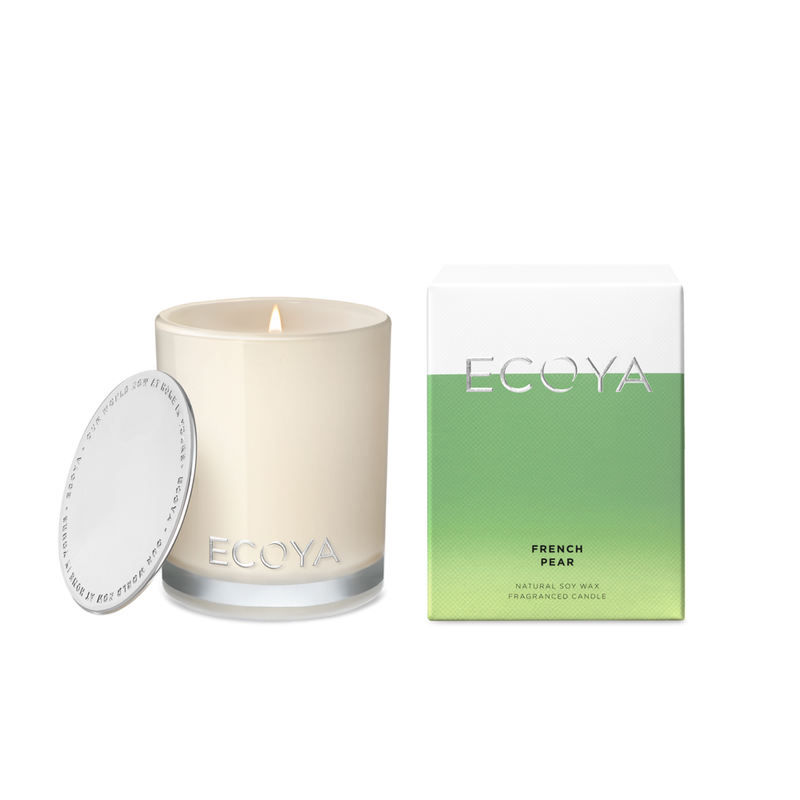 Ecoya French Pear Mini Madison Jar candle.