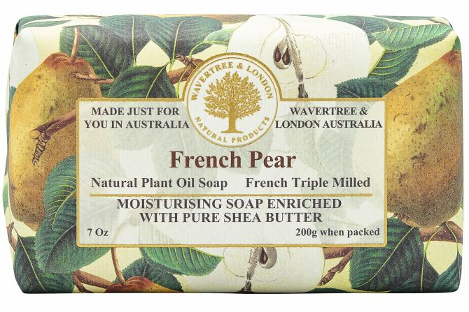 French Pear Scented Soap by Wavertree & London