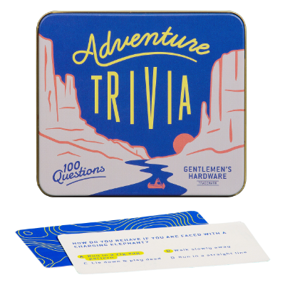 Adventure Trivia in a Tin by Gentlemen's Hardware
