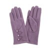 Ladies gloves in lilac with button finish